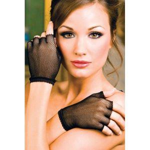 Короткие рукавички с открытыми пальчиками - Перчатки