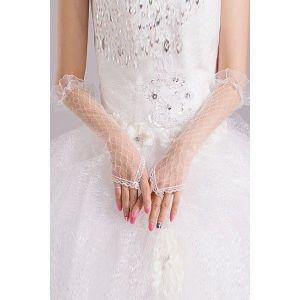 Ажурные женские длинные перчатки - Перчатки