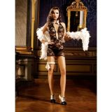 РАСПРОДАЖА! Черное ажурное платье с глубоким декольте Mafia по оптовой цене