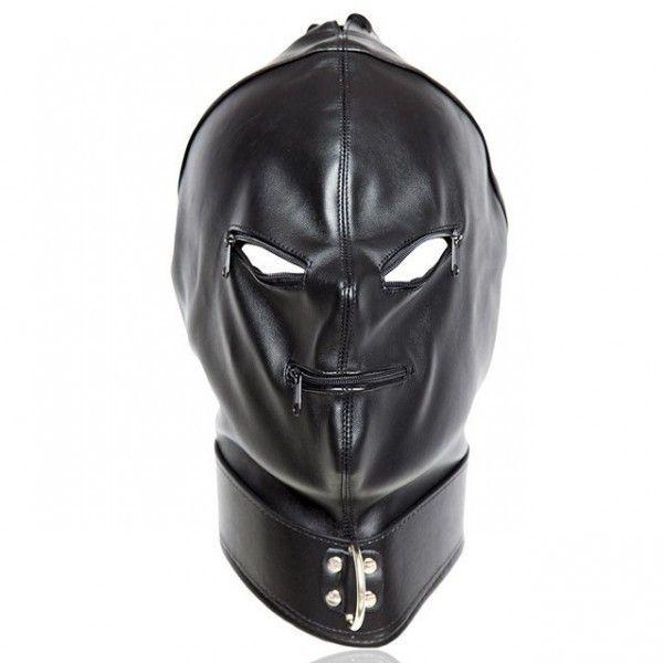 Кожаная маска на лицо