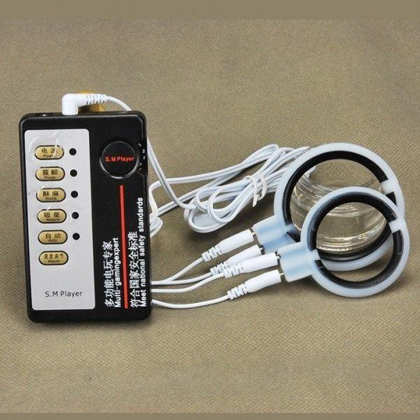 BDSM (БДСМ) - Электро-секс силиконовые пениса кольцо массажер