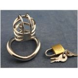 Stainless Steel Male Chastity Device With arc-shaped Cock Ring ZC062 по оптовой цене