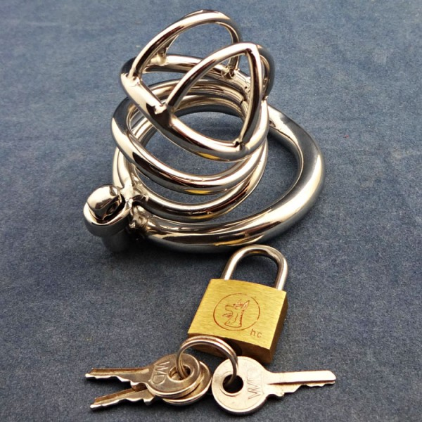 BDSM (БДСМ) - <? print Stainless Steel Male Chastity Device With arc-shaped Cock Ring ZC062; ?>
