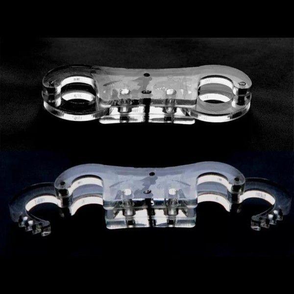 BDSM (БДСМ) - Полиметилметакрилат наручники / регулируемые манжеты с пальцем