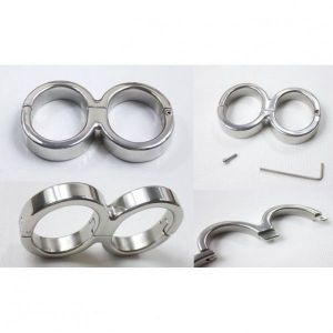 Allen-8 Darby Style Stainless Steel Single hinge Bondage handcuffs With Allen Driver
