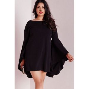 Black dress large size. Артикул: IXI44230