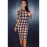 Bandage Caged Panty Lined Dress