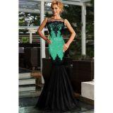 Green Sequin Applique Evening Party Mermaid Dress