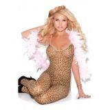 Леопардовый сексуальный боди-комбинезон