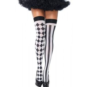 Черные чулки с принтом Sexy Leg Stocking
