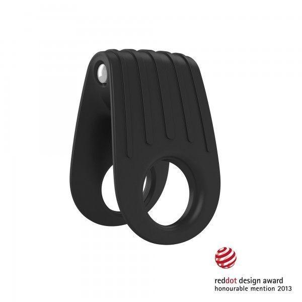 Вибрационное кольцо черного цвета