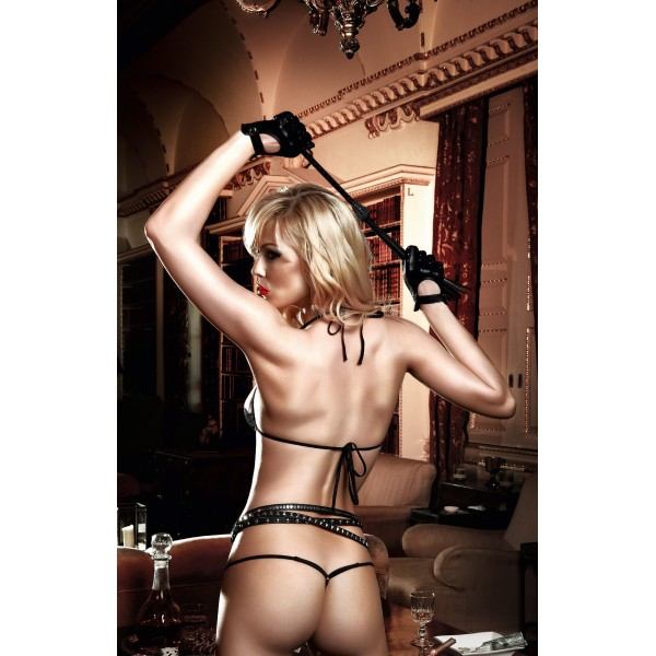 Agent Of Love bikini Set light beige with black lace. Артикул: IXI45040