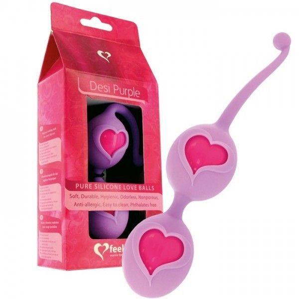 Фиолетовые вагинальные шарики - Любовь