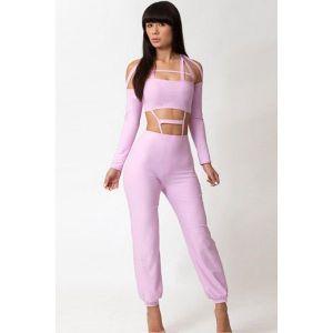 A delicate futuristic jumpsuit