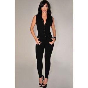 Black sexy jumpsuit. Артикул: IXI45426
