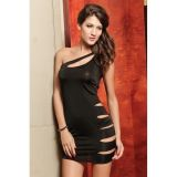 Slinky Mini Dress with Sexy Cut-outs
