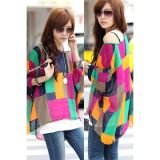 Colorful Irregular Plaid Larger Size Chiffon Blouses