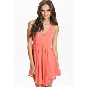 Pink chiffon dress. Артикул: IXI45651