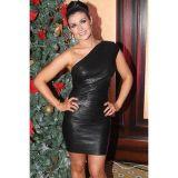 Hot Sexy Luxury Black One-shoulder Bandage Evening Dress