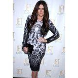Body Flattering Long-sleeve Print Dress