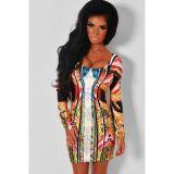 Paradise Luxe Multicolor Mirrored Illusion Print Dress