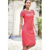 Rosy Relaxing Fit Short Sleeved Knee-length Lace Dress