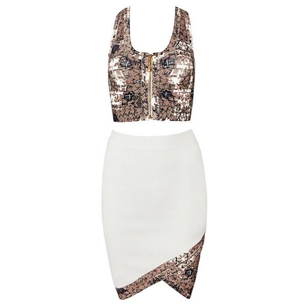 White set of pencil skirt and top. Артикул: IXI46364