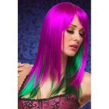 Purple Green Enchanted Medium Wig - ������ �����������!