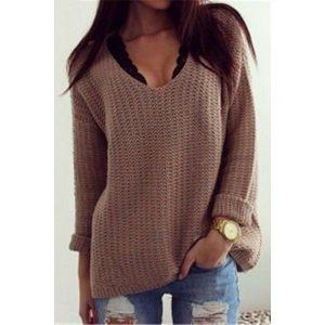Вязаный женский свитер - Кофты, блузы