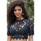 Black Lace Crop Top - ������ �����������!