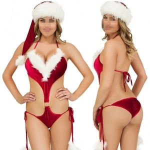 Sexy Women's Red Christmas Lingerie Underwear Mrs Costume Xmas Party