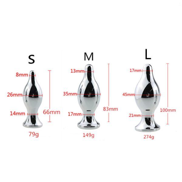 Steel butt plug with handle-ring size S. Артикул: IXI46821