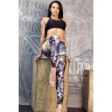 Leggings with a print of a female warrior