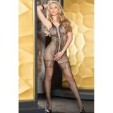 Sexy jumpsuit-stocking with openwork elements