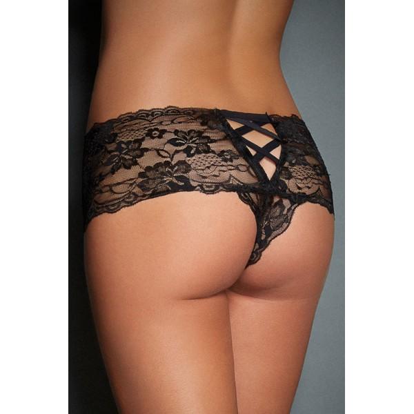 Panties of black lace. Артикул: IXI47129