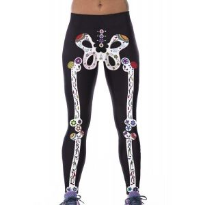 The unusual leggings with stylish print