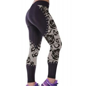 Leggings with print Gothic rose