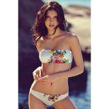 Sexy Strapless Floral Bikini Swimwear