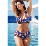 Vintage American Starlet Halter High Waist Bikini Swimsuit