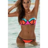 Bright neon swimsuit