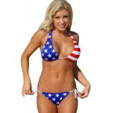 USA Tie Two Piece Bikini Swimsuit