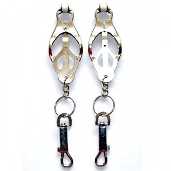 BDSM (БДСМ) - Шикарные длинные серьги - Серебро