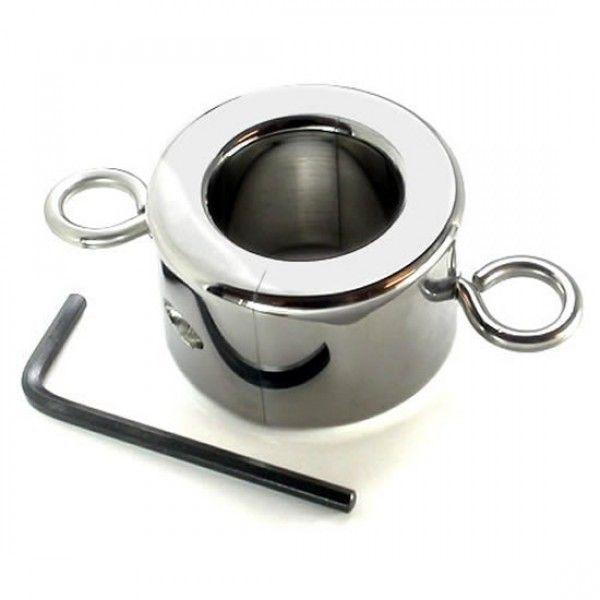 BDSM (БДСМ) - Металлическое кольцо на мошонку (3 вида) Large Ball Stretcher Weight for CBT