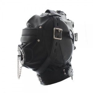Fully enclosed mask leather hood