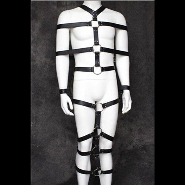BDSM (БДСМ) - Черный кожаный бондаж на все тело