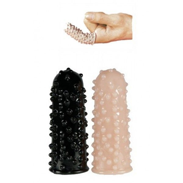 Насадки на палец (чёрная, телесная)