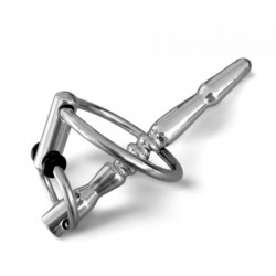 BDSM (БДСМ) - Катетер для пениса с кольцом серебристого цвета
