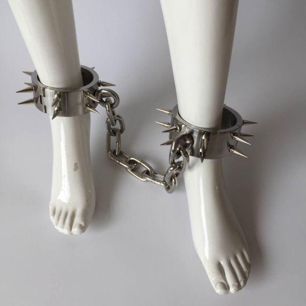 BDSM (БДСМ) - Унисекс с шипами из нержавеющей стали утяжеленные железные ножки для подземелий с шестигранным ключом