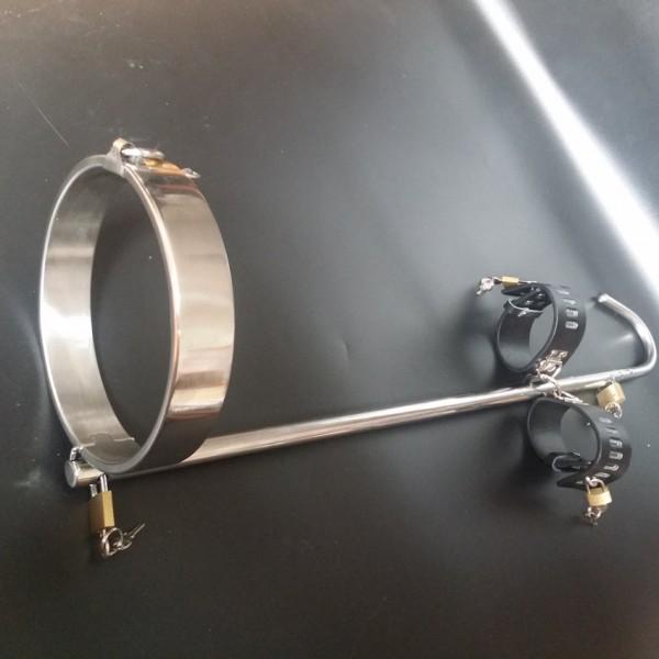 BDSM (БДСМ) - <? print Unisex Stainless steel collar with anal hook / unique BDSM bondage device; ?>