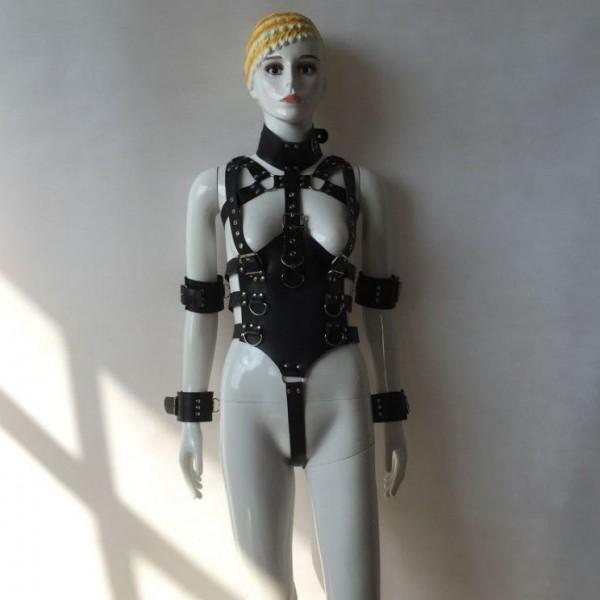 BDSM (БДСМ) - <? print Бондаж для тела из качественных кожаных ремней; ?>